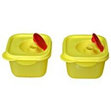 Tupperware Crystal Wave Mini Square Plastic Bowl Set, 2-Pieces, Yellow for Rs. 369