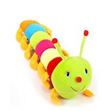 Buy Deals India Cute Colourful Caterpillar Soft Toy (55cm) from Amazon