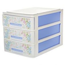 Nayasa Tuckins 3 Piece Drawer, Blue for Rs. 553