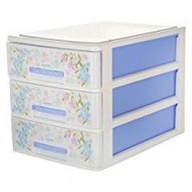 Flat 49% off on Nayasa Tuckins 3 Piece Drawer, Blue