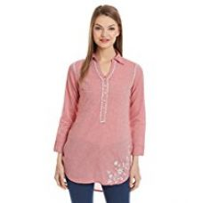 Buy Biba Women's Asymmetrical Hemline Kurta from Amazon
