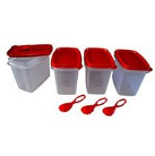 Tupperware  Plastic Canister Set, 570ml, Set of 4, Multicolour for Rs. 1,015