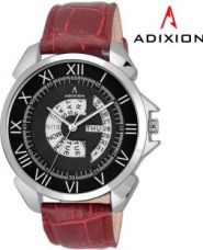 Buy Adixion 9506SLD1 New Maroon Strap watch with Day and Date Analog Watch  - For Men from Flipkart