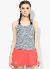 Buy Adidas Sn Fitted Blue Solid Top from Jabong