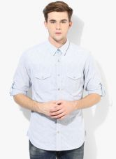 United Colors of Benetton Light Blue Regular Fit Casual Shirt for Rs. 1260