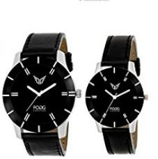 Fogg Analogue Black Dial Men'S And Women'S Watch 5002-Bk Couple Watch for Rs. 599