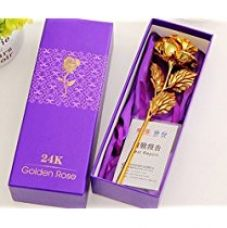 JaipurCrafts 24K Gold Rose with Gift Box and Carry Bag for Rs. 268