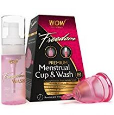 Wow Freedom Reusable Menstrual Cup and Wash Pre Childbirth - Medium (Under 30 Years) for Rs. 499