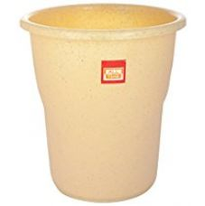 All Time Frosty Plastic Dust Bin - 22.5 cm x 22.5 cm x 24.5 cm, Granite Biscuit for Rs. 100