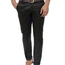 Wajbee Men's Black Cotton-Lycra Chinos(SIZE-36) for Rs. 498