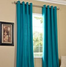 PINDIA Eyelet Polyester Window Curtain - 4ft, Aqua for Rs. 196