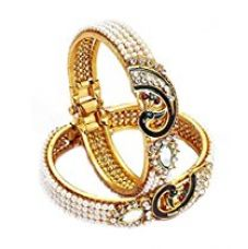 Buy JDX Gold Plated Bangles Set for Women and Girls_Adjustable from Amazon