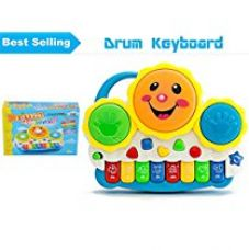 Buy Vivir Drum Keyboard Musical Toys With Flashing Lights , Animal Sounds And Songs from Amazon