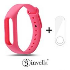 Buy Mi band 2 Strap, invella (TM) Mi Band 2 Replacement Belt/Strap (Pink) with Mi Band 2 Screen Guard from Amazon