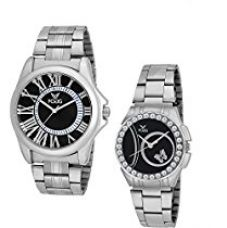 Fogg Analogue Black Dial Men'S And Women'S Watch 5023-Bk Couple Watch Combo for Rs. 649