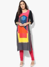 Buy W Multicoloured Printed Kurta for Rs. 1020