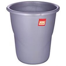 Buy All Time Frosty Plastic Dust Bin, 5.5 Litres, Silver from Amazon