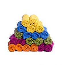 S Kumars Love Touch - Face Towel - Pack Of 20 (Knitted) 300 Gsm - Mutli Colour for Rs. 329