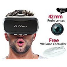 Buy AuraVR Pro vr headset with gaming remote - 42MM fully adjustable VR glasses. Inspired by Google Cardboard from Amazon