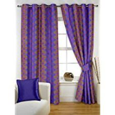 Story@Home Nature Dots Eyelet 2 Pieces Premium Polyester Window Curtains Bedroom, 5 ft, Violet for Rs. 516