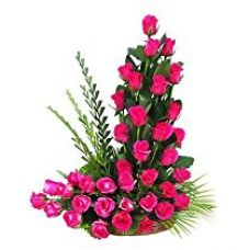 Indian Gift Emporium Cute Fresh Red Roses Basket (Bunch of 24) for Rs. 1,186