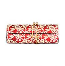Buy FAVOLA DHOLAK STYLE SILK BROCADE GOLD AND ORNAGE CLUTCH BAG FSS0229 from Amazon
