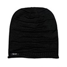 Buy Noise NOICAPWNTR005 Wrinkled Slouchy Polyester Beanie, XL (Black) from Amazon