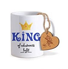 TiedRibbons® Valentines Day Gifts for Boyfriend Coffee Mug(325ml) with Heart shaped Wooden Engraved Tag for Rs. 349