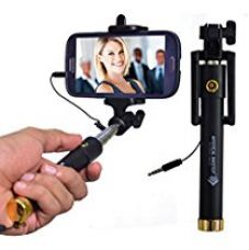 Mystical Master® Selfie Stick with Wire/Aux Cable {With New Logo} (No Bluetooth or Battery) for taking Photos & Videos on all Mobile Phones, Buy Original Premium & Best Quality, Light Weight, Best Price Gift, Long Length Extendable & Foldable Branded Monopod, Golden Selfie Stick for iPhones (iOS 5.0+) 4s, 5s, 6s, 6s Plus, Android Phones, Samsung Galaxy, Note, Edge, Gionee, Intex, Karbonn, Lenovo, Nokia, Nexus, Oppo, Vivo, Coolpad, One Plus, Moto, Sony for Rs. 399