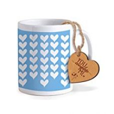 TiedRibbons® Valentine Gift for Boyfriend Coffee Mug(325ml) with Heart shaped Wooden Engraved Tag for Rs. 349