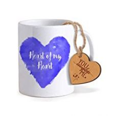 TiedRibbons® Special Gifts for Boy Friend Coffee Mug(325ml) with Heart shaped Wooden Engraved Tag for Rs. 349