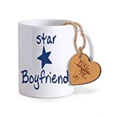 TiedRibbons® Valentine Day Gifts for Boyfriend Coffee Mug(325ml) with Heart shaped Wooden Engraved Tag for Rs. 349