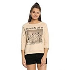 Buy Abof Women's Sweatshirt (ABOFA15AWWWSS11651020M, Beige, Medium) from Amazon