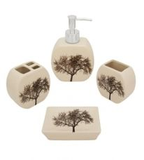 Home Belle Multicolour Ceramic Bathroom Accessories - Set of 4 for Rs. 539