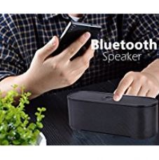 Buy Bluetooth Speaker, SeCro Portable Wireless Speakers 10W Output Power with Enhanced Bass Passive Vibration, Build in Triple Protection 1800 mAh Lithiuth Battery and Microphone for Handfree Phone Calls (Black) from Amazon