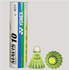 Buy Yonex Mavis 10 Shuttle Cock (Yellow) - Green Cap from Amazon