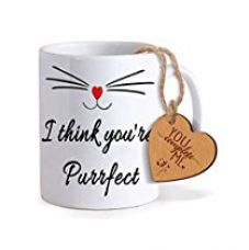 Buy TiedRibbons® Valentines For Her Coffee Mug(325ml) with Heart shaped Wooden Engraved Tag from Amazon