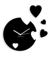 Flat 52% off on Blacksmith Falling Hearts Wall Clock - Black