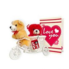 Tiedribbons® Best Valentine'S Day Gifts Gift Combo Love Tri Cycle , Key Chain for Rs. 499