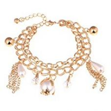 Shining Diva Fashion Gold Plated Charm Bracelet for Girls for Rs. 399