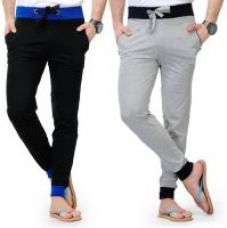 ToYouth Mens Pack of 2  Black and Grey Cotton Blend Sports Track Pant(G#20) for Rs. 399