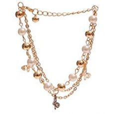 Buy Shining Diva Fashion 18K Gold Plated Charm Bracelets For Girls from Amazon
