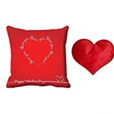 MeSleep Red Love You Valentine Digital Printed Cushion (With Filler)-With Free Heart Shaped Filled Cushion for Rs. 549
