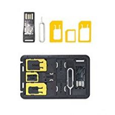 Buy MOERDON SIM Card Adapter with Micro SD storage,Micro SD Card Reader Sim Release Pin Complete Kit for Nano Micro Standard Sim and Card Holder for For iPhone Samsung Nokia HTC LG Sony Gionee All Mobile Phones [SIM Adapter] from Amazon