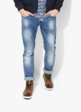 Buy Spykar Blue Low Rise Skinny Fit Jeans from Jabong