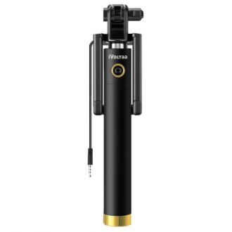iVoltaa Next Gen Compact Selfie Stick Wired for iPhone and Android for Rs. 189
