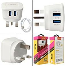 LDNIO Power Portable Travel USB Chargers Wall Charger Outlet Tap 2 USB Port For Android Smart Phones, iPhones, iPad, Mp3,Tablet (UK PLUG) for Rs. 625