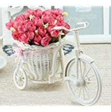 Buy Tied Ribbons Cycle Shape Decoration Flower Vase For Living Room With Peonies Bunches from Amazon