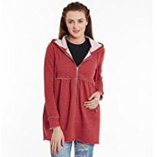 Buy Femella Women's Red Hooded Zip up Jacket( DS-2050040-1454-RED-XS) from Amazon