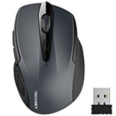 TeckNet M003 Pro 2.4G Ergonomic Wireless Mobile Optical Mouse with USB Nano Receiver,Grey for Rs. 825